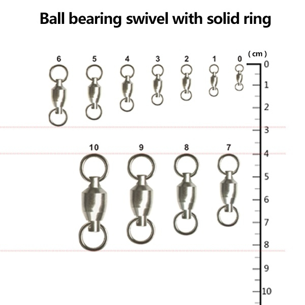 Вертлюг c подшипником  Ball Bearing Swivel with Solid Ring / 10pcs - 1