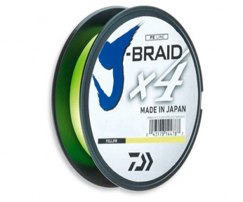 Шнур Daiwa J-Braid x4 Yellow 135м ( 12740-)